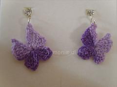 orecchini farfalla con punto luce (Armonie di filo) Tags: punto luca crochet bijoux earrings filo farfalle orecchini uncinetto cotone inamidati