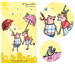 #Twoodle Pig and Umbrella (Hi Ni) Tags: travel summer art love animal illustration umbrella happy pig promo doodle illustrationfriday if illustrator tweet forkids characterdesign twitter uglycute editorialillustration freelancedesign freelanceillustrator nyhagraphics illustratorforhire twoodle
