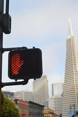 Streets of San Francisco (Irene Costante) Tags: sanfrancisco california usa tower pyramid stop transamerica