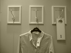 maybe.. (auroradawn61) Tags: uk summer england shop shirt sepia shopping town store july maybe dorset newlook sales bournemouth towncentre heatwave hotweather hothothot fittingrooms ukheatwave lumixtz25