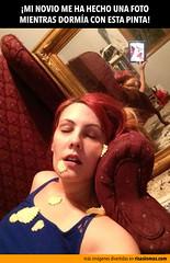 Mi novio me ha hecho foto dormida (risasinmas) Tags: funny lol humor imagenes diversion graciosas risas