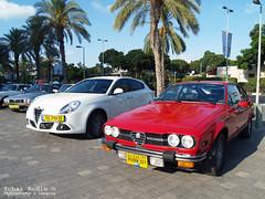 Alfa Romeo Alfetta GTV, Alfa Romeo Giulietta (Type 940) (Yohai_Rodin) Tags: classic cars car club israel 5 five tel aviv