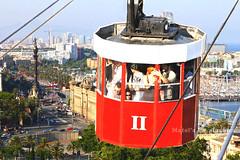 Vista desde el funicular (Barcelona) (Maribel Tello Leandro) Tags: barcelona viaje espaa spain ciudad paseo vista turismo alto catalua funicular