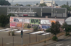 Shots from the bart (Runtrains) Tags: graffiti oakland bay beef area haul gats krime tuser zaust runtrains