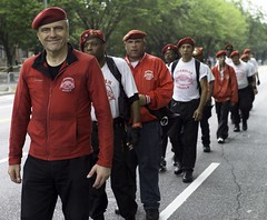 curtis sliwa, guardian angels (branko_) Tags: new york west brooklyn indian parade angels guardian curtis sliwa