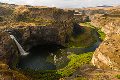 Palouse Falls and the Morning Sun (absencesix) Tags: morning travel summer nature water beauty river waterfall washington seasons unitedstates august canyon noflash northamerica daytime brightcolors portfolio lacrosse locations locale easternwashington palouseriver 19mm manualmode palousefalls iso50 timeofday 2013 palousefallsstatepark 500px thepalouse geo:state=washington exif:iso_speed=50 1424mmf28 objectsthings hasmetastyletag hascameratype naturallocale adjectivesfeelingdescription haslenstype selfrating4stars exif:focal_length=19mm camera:make=nikoncorporation afsnikkor1424mmf28g 1100secatf11 exif:make=nikoncorporation geo:countrys=unitedstates exif:lens=140240mmf28 exif:aperture=ƒ11 subjectdistanceunknown nikond800e exif:model=nikond800e camera:model=nikond800e 2013travel august32013 palousefallsmoscowsteptoephototrip0802201308042013 geo:city=lacrosse geo:lat=4666465383 geo:lon=11822551817 46°3953n118°1332w lacrossewashingtonunitedstates