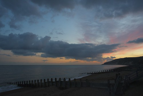 Sunset over Eastbourne