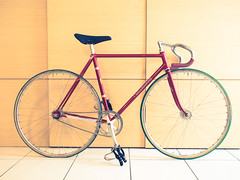 #NAGASAWA (funkyruru) Tags: postprocessed bike taiwan cycle fixie fixedgear taipei pista trackbike njs nagasawa olympusep5 mzuikodigital17mmf18
