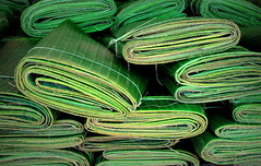 Banana leaves (PeterCH51 - many thanks for 5 million visits!) Tags: food cooking leaves wrapping leaf market banana laos luangprabang steaming bananaleaves bananaleaf steamedfood 5photosaday phousimarket peterch51 phosimarket
