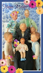 Happy Mother's Day! (Foxy Belle) Tags: feet scale metal hands chair doll day grandmother mothers rocking familty 112 dollhouse grannie caco picmonkey