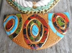 The Talia Upclose (Charleston Clay Studios) Tags: art long handmade jewelry womens chain charleston clay statement handcrafted earrings custom polymer