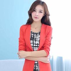 เสื้อสูท แฟชั่นเกาหลีทรงสวยหรูมากกระดุม1เม็ด นำเข้า ไซส์XL สีส้ม - พร้อมส่งTJ7235 ราคา1350บาท เสื้อสูทก็ดูหรูมากทีเดียว สวมใส่เสื้อสูทแขนยาวได้เหมาะทุกโอกาสด้วยเสื้อสูทแฟชั่นทันสมัยแบบสาวเกาหลีสวยได้คลาสสิก ใส่ออกงานราชการ งานครูโรงเรียน พบลูกค้า พิธีการส