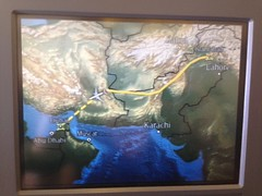 Route map from Pakistan to Dubai!