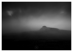 The Lost Landscape (picturedevon.co.uk) Tags: uk longexposure morning blackandwhite bw mist weather fog canon dark landscape photography dawn mono nationalpark moody fineart may devon le dartmoor minimalist moorland haytor hillfog wwwpicturedevoncouk takenbydavidhixon