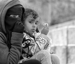 Eyes Can Tell (ybiberman) Tags: portrait woman girl israel eyes candid jerusalem hijab streetphotography gloves niqab muslimquarter oldcity alquds