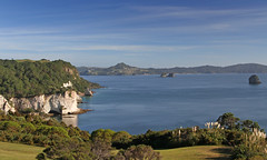 access by foot only (Paul J's) Tags: ocean sea cliff forest bay bush cathedral pacific cove reserve coromandel hahei