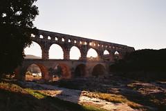 pont du gard, september 2014 (kodacolorframes) Tags: film 35mm roman minoltax700 aqueduct analogue provence pontdugard fujiproplusii100