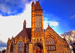 Mansfield New Jersey Church (gg1electrice60) Tags: mansfield newjersey mansfieldtownship burlingtoncounty church architecture spires coupla tower minerette stainedglass windows houseofworship