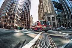 Boston Fire Department (CARLORICCI) Tags: street sky usa colors reflecting nikon massachusetts carlo d800 bostn fisheye16mm bostonfiredepartment statiunitidamerica nikkor16mmf28 nikond800 copyright carloricci riccarlo carl ocarlo