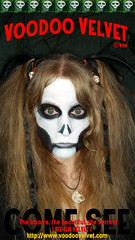 self portrait of an avatar (voodoo.velvet) Tags: show white house black halloween face grave monster night yard dark painting movie dead skeleton skull photo woods candy image symbol head witch circus zombie live or avatar ghost ad paintings makeup images velvet sugar spooky freak horror treat alive trick tiki crypt voodoo sideshow haunt gaff choas voodoovelvet