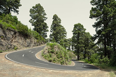 The Direct Way (speedmatters) Tags: street trees travelling rural canon eos islands la countryside daylight spain rocks driving bend automotive spanish heat 7d winding canary roadside curve asphalt palma vacations hairpin rallye twisting