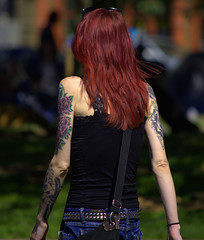 Arm Tattoos (swong95765) Tags: tattoo redhead woman female lady arms paint tattoos ink inked