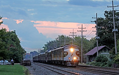 NS Executive Train (craigsanders429) Tags: norfolksouthern norfolksoutherntrains nsocs nsocstrain passengertrains passengercars olmstedfallsohio railfanninginolmstedfallsohio nschicagoline ns4270 f9a nsf9ano4270