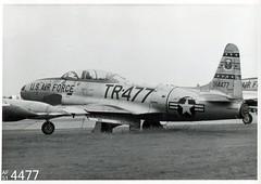 50th TFW Lockheed T-33A Shooting Star 51-4477 (Digital Log Book) Tags: t33a 514477 lockheed shootingstar 50thtfw hahnab westgermany 1959 crashedwrittenoff usafe usaf usairforce trainer tr477