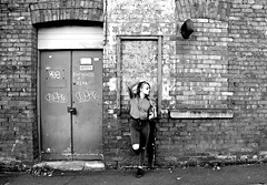Framed (plot19) Tags: ancoats brick street manchester model cool britain british blackandwhite blackwhite black door plot19 photography portrait pose people nikon north northwest northern now olivia liv love family fasion fashion