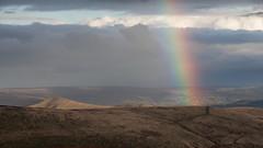 Rainbow over Hathersage (Paul Newcombe) Tags: rainbow peakdistrict derbyshire england uk british countryside landscape loosehill rain storm canon70200f4l telephoto longlens paulnewcombephotography
