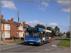 34626, Station Road, Long Buckby. (Jason 87030) Tags: 34626 11 ashbyfields longbuckby firestation exchange by openreach cabinet roadside cars cloud october 2016 stagecoach dennis dart village clouds northants northamptonshire daventry canon eos 50d shutter sunny weather location market slf kx54opa vehicle transportation greatbritain computer visiting effect exhibition portfolio camera shot site photostream presented filejpgpresentation fascination extreme visit display vista season unitedkingdom media amateur
