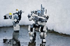 """LZ Secured, Awaiting Instruction..."" (ABS Defence Systems) Tags: outdoors zero lego mecha mf0 mobile frame"