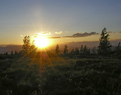 Sunset over the north end of the Tetons and across Jackson Hole (spotwolf5) Tags: sunsets tetonrange