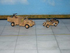 30 cwt Chevrolet + Willy's Jeep (modelldoc) Tags: lrdg long range desert group plastic kit matchbox revell 176 africa