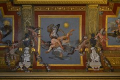 Uranus-Anubis (j. kunst) Tags: italia italy 意大利 lazio 拉齊奧 roma rome 罗马 villaborghese galleriaborghese gallery museum salaegizia egyptianroom ceiling painting trompeloeil egyptianising egyptian egypt antonioasprucci asprucci 18thcentury uranus ouranos caelus anubis anpu cynocephalic dogheaded god deity mythology tommasomariaconca conca inscription hieroglyphic hieroglyph putto cherub garland festoon flower explored