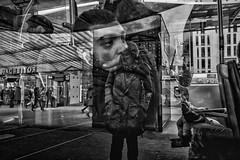 rotterdam reflections (Peter M. Meijer) Tags: fujix70 rotterdam netherlands holland people urban city candid closeup street strada strasse straat