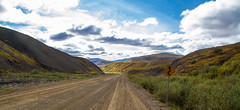 Ain't Nothing Wrong With That (2015) (VRileyV) Tags: road sign skyclouds dempster highway northwestterritories nwt nt 2015 landscape