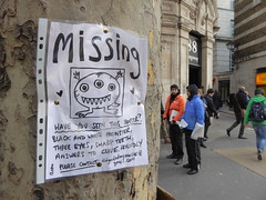 Have you seen this monster? (duncan) Tags: monster streetart missing clive
