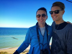 at the Lighthouse (#KPbIM) Tags: 2016 trip peninsula upper vacation color travel fall adventure michigan october pure north lighthouse daniel whitefish point dima