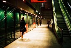 copenhagen, november 2014 (kodacolorframes) Tags: lomo lca xpro 35mm analogue copenhagen kobenhavn denmark danish metro subway nike