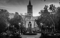 Holy Place (Marvin Macke) Tags: church kirche chile valledelelqui laserena coquimbo travel viaje piscoelqui black white dark city people