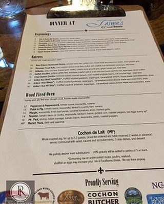 The unique and chef inspired menu at Jaime's in downtown Brevard, NC. A beautiful and wide open restaurant with a very wonderful and friendly staff. Excellent menu and a fabulous wine and local beer list. A perfect way to spend a Friday night with family