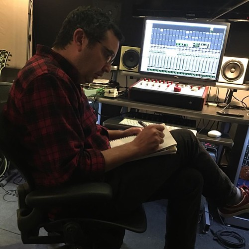 Rainy day flannel and a list of what's left to record. In horse racing I guess this is the clubhouse turn. I can tell because I feel sweaty and like someone's whipping my ass. But music is different because that someone is me. #mikeerrico #guitar #america