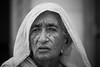 Inde: vieille dame à Jaisalmer (Rajasthan). (claude gourlay) Tags: inde india indedunord northindia claudegourlay portrait retrato ritratti face people rajasthan jaisalmer noiretblanc blackandwhite nb bw