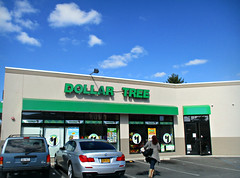 Dollar Tree (Robert S. Photography) Tags: dollarstore brooklyn dollar tree street storefronts signs clouds sky flatbushave nyc canon powershot elph160 iso100 november 2016