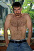 778 (rrttrrtt555) Tags: hair hairy chest muscles beard stubble mustache goatee ginger belt underwear jeans pants window arms shoulders eyes stare masculine sideburns briefs buckle leaning sunlight outdoors redhead red