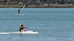 We have take off! (Cathy Cates (aka CrafteeCC)) Tags: 116in2016 australia lakebonney southaustralia sports waterskiing