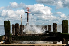 Making A Splash (Number Johnny 5) Tags: sea tamron d750 2470mm clouds defence splash beach wave sky gorleston groyne imanoot nikon seaside