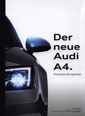 Audi A4. Der neue - Fortschritt spren. 2015_1 (World Travel Library) Tags: audi a4 fortschritt spren 2015 frontcover car brochures sales literature world travel library center worldtravellib auto automobil papers prospekt catalogue katalog vehicle transport wheels makes models model automobile automotive motor motoring drive wagen photos photo photograph picture image collectible collectors ads fahrzeug german cars   worldcars automobiles documents broschyr esite catlogo folheto folleto   ti liu bror