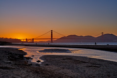 Sunset over Golden Gate (AgarwalArun) Tags: sonya7m2 sonyilce7m2 sony sanfrancisco goldengatebridge goldengate bayareacalifornia iconicbridge pacificocean ocean bridge marincounty scenic views landscape reflections fog marinelayer crissyfield